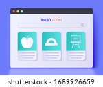 Set Protractor grid for measuring degrees, Apple and Chalkboard icon. Vector