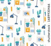 Home Office Seamless Pattern...