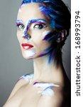 creative art makeup of a young...   Shutterstock . vector #168993794