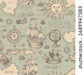 vector abstract seamless... | Shutterstock .eps vector #1689947383
