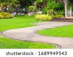 Walkway Pathway Curve In Public ...
