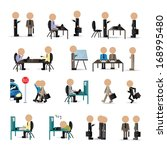 business peoples   isolated on...   Shutterstock .eps vector #168995480
