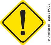 hazard sign icon vector triangle | Shutterstock .eps vector #1689959779