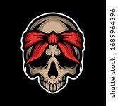 Red Bandana Skull For...