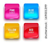 set of glass yellow  red  pink...