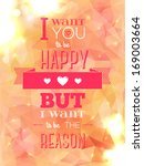 happy valentines day card with... | Shutterstock .eps vector #169003664