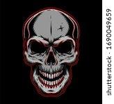 Vintage Human Skull Template I...