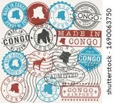 republic of the congo set of... | Shutterstock .eps vector #1690063750