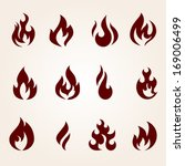 fire icons set | Shutterstock .eps vector #169006499