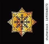 mandala graphic design for art  ... | Shutterstock .eps vector #1690068070