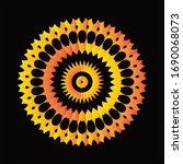 mandala graphic design for art  ... | Shutterstock .eps vector #1690068073