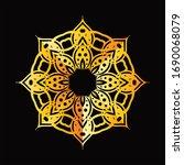mandala graphic design for art  ... | Shutterstock .eps vector #1690068079