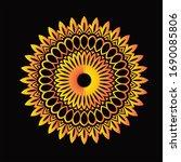 mandala graphic design for art  ... | Shutterstock .eps vector #1690085806