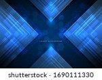 abstract technology blue... | Shutterstock .eps vector #1690111330