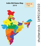 division of india. new states... | Shutterstock .eps vector #1690116310