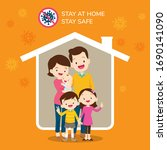 corona virus covid 19 campaign... | Shutterstock .eps vector #1690141090