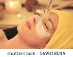 woman facial beauty   wellness... | Shutterstock . vector #169018019