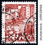 poland   circa 1952  a stamp... | Shutterstock . vector #169018466