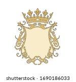 frame vintage gold illustration ... | Shutterstock .eps vector #1690186033