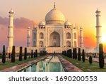 Taj Mahal At Sunset  Beautiful...