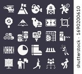 set of 25 outdoors filled icons ... | Shutterstock . vector #1690200610