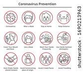 coronavirus outbreak... | Shutterstock .eps vector #1690213963