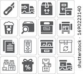 collection of 16 box filled... | Shutterstock . vector #1690223140