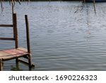 A Small Wooden Boat Dock....