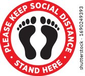 social distancing signage or... | Shutterstock .eps vector #1690249393
