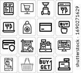 collection of 16 purchase... | Shutterstock . vector #1690271629