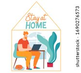 family isolation work and stay...   Shutterstock .eps vector #1690276573