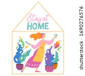 stay at home image. vector...   Shutterstock .eps vector #1690276576