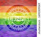 turnpike emblem on mosaic... | Shutterstock .eps vector #1690309069
