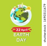 green earth day concept and... | Shutterstock .eps vector #1690311679