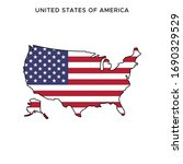 map and flag of united states... | Shutterstock .eps vector #1690329529