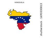 map and flag of venezuela... | Shutterstock .eps vector #1690330813