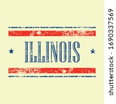 american illinois state text... | Shutterstock .eps vector #1690337569