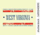 american west virginia state... | Shutterstock .eps vector #1690340890