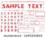 grunge post stamps collection ... | Shutterstock .eps vector #1690343803