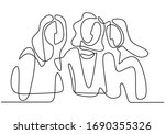 continuous line drawing of... | Shutterstock .eps vector #1690355326