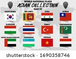 set of realistic official world ... | Shutterstock .eps vector #1690358746
