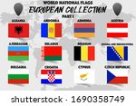 set of realistic official world ... | Shutterstock .eps vector #1690358749