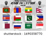 set of realistic official world ... | Shutterstock .eps vector #1690358770