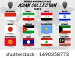 set of realistic official world ... | Shutterstock .eps vector #1690358773