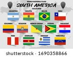 set of realistic official world ... | Shutterstock .eps vector #1690358866