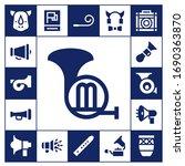 modern simple set of horn... | Shutterstock .eps vector #1690363870