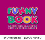 vector bright sign funny book.... | Shutterstock .eps vector #1690375450