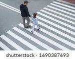 Man And Child On A Zebra...