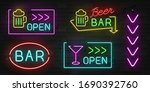 Realistic Glowing Neon Signs On ...