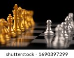 chess. strategy ideas planning...   Shutterstock . vector #1690397299